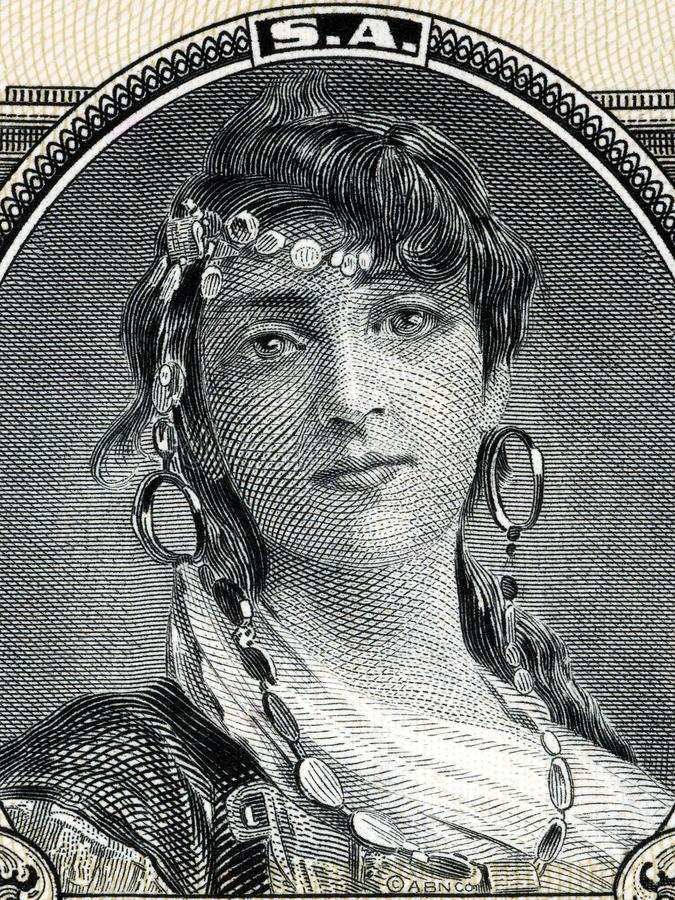 Retrato gitano de la mujer foto de archivo libre de regalías