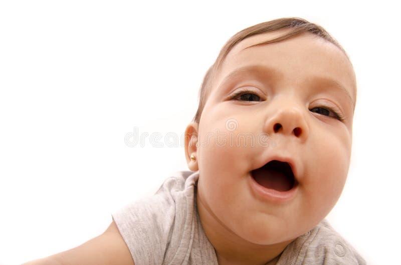 Retrato granangular del bebé imagenes de archivo