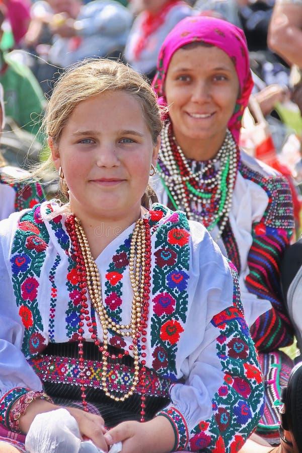 Retrato húngaro das meninas fotos de stock