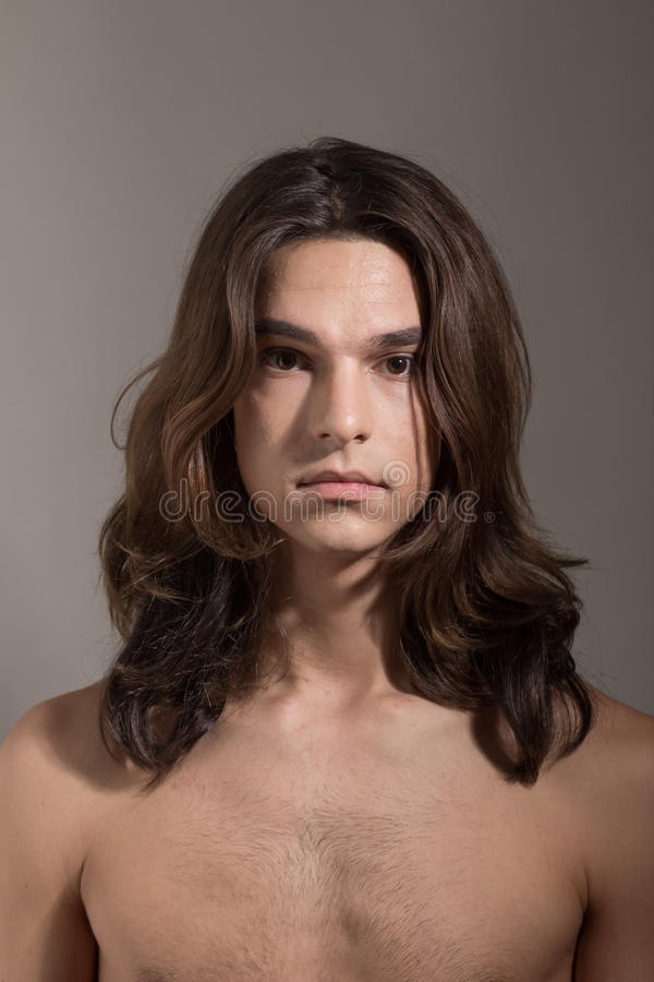 Retrato hembra-varón del transexual del transexual de la mujer del hombre imagen de archivo libre de regalías