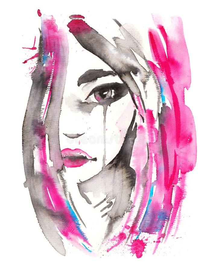 Retrato hermoso de la mujer libre illustration