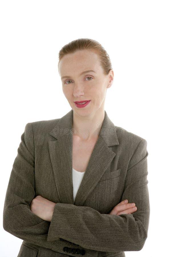 Retrato hermoso de la mujer de negocios del redhead fotos de archivo