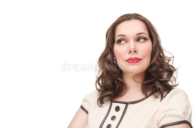 Retrato hermoso de la mujer del tamaño extra grande foto de archivo libre de regalías