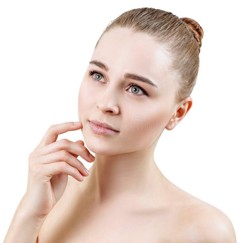 Retrato hermoso de la mujer sensual joven Concepto de Skincare fotos de archivo