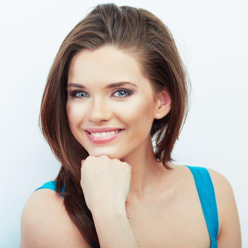 Retrato hermoso sonriente de la cara de la mujer fotos de archivo