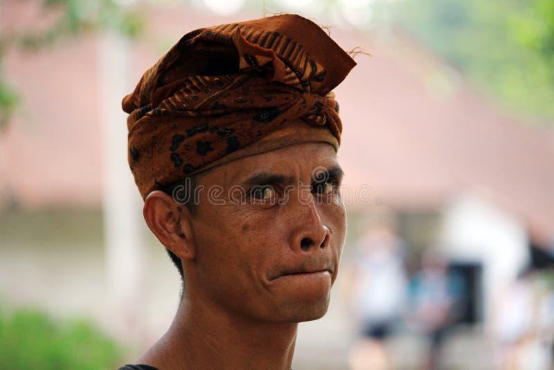 Retrato hindú Bali del hombre foto de archivo