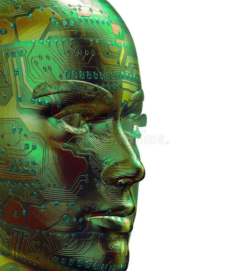 retrato humano de 3D Digitas ilustração royalty free