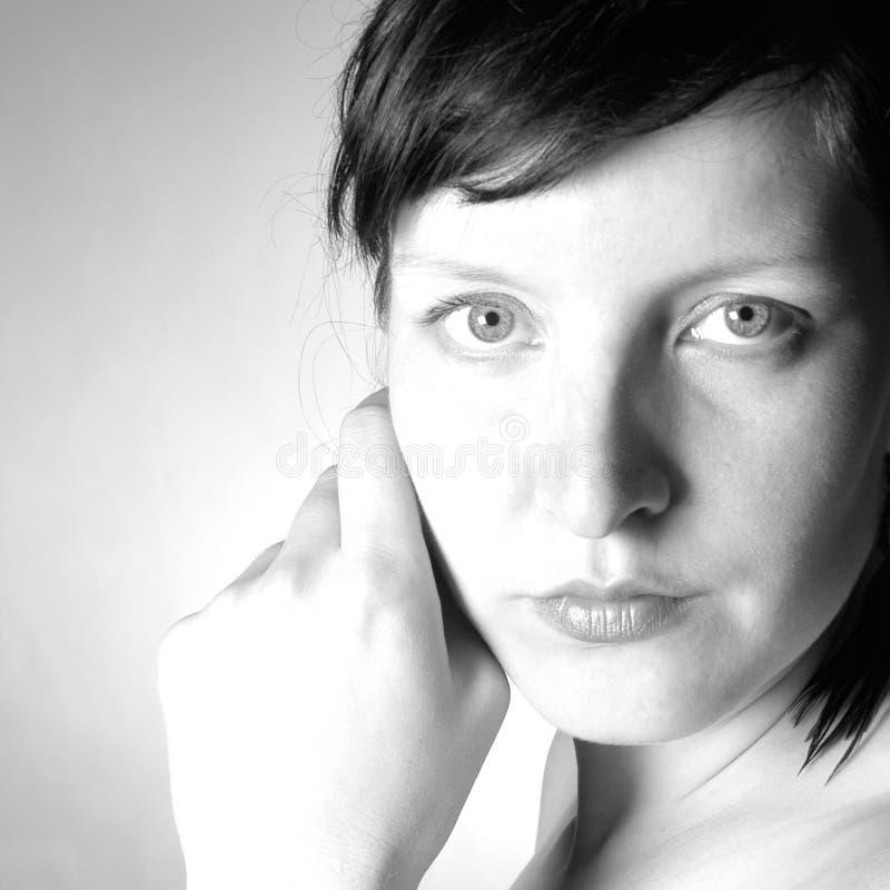 Download Retrato III da mulher foto de stock. Imagem de pensar, penas - 200608