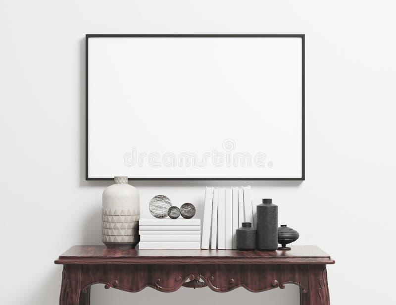 Retrato illustrationVertical horizontal do modelo 3d PortraitVertical da placa do quadro do cartaz da paisagem ilustração do vetor