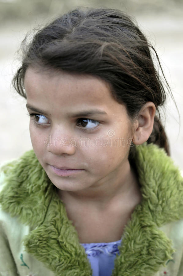 Retrato indiano deficiente da menina foto de stock