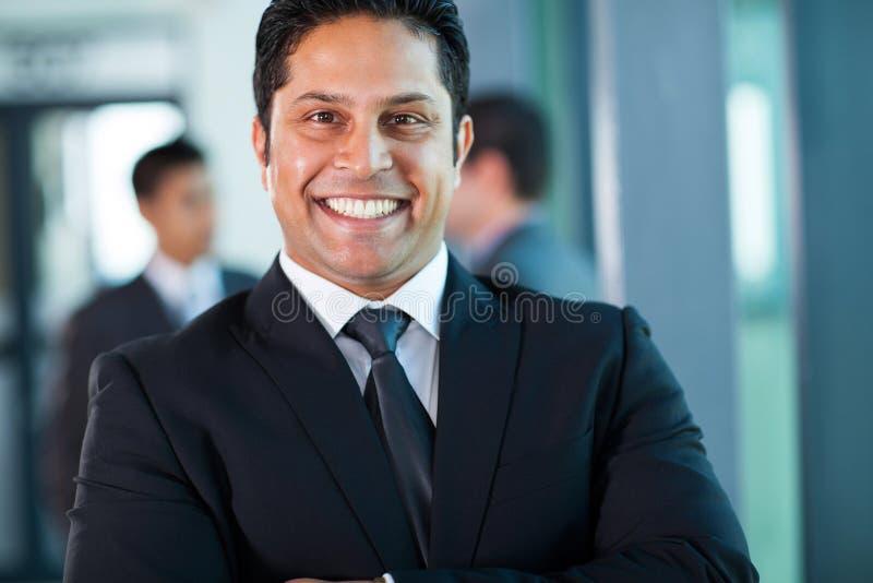 Retrato indiano do homem de negócios fotos de stock royalty free