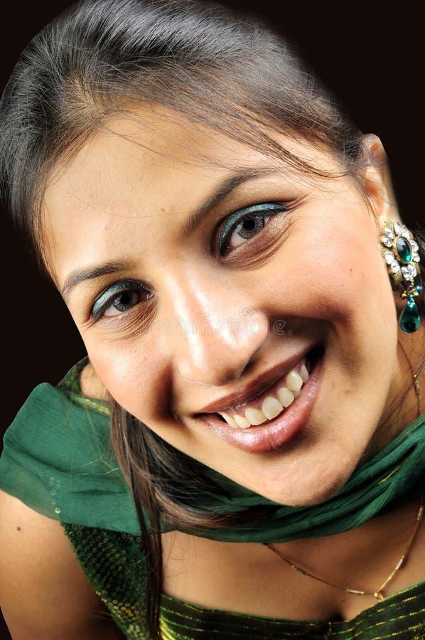 Retrato indio de la muchacha fotografía de archivo