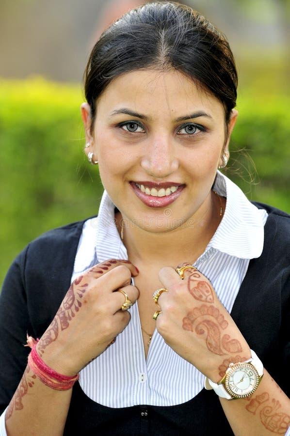 Retrato indio de la muchacha fotografía de archivo libre de regalías