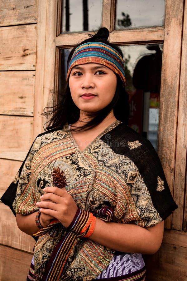 Retrato Indonesia de las mujeres imagen de archivo