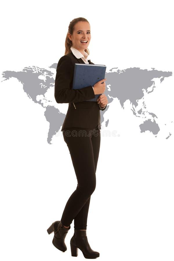 Retrato integral corporativo de una mujer de negocios preety con b fotografía de archivo