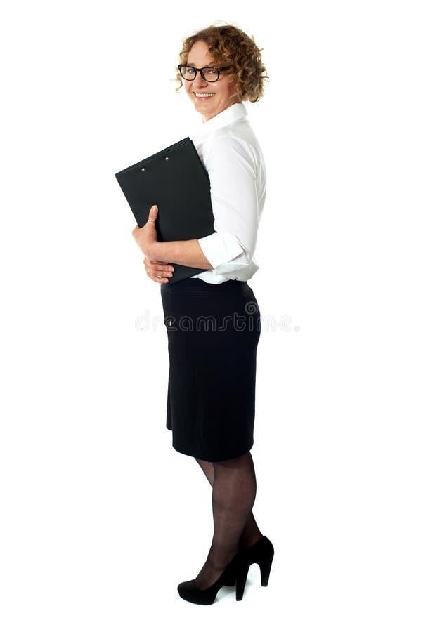 Retrato integral de la empresaria foto de archivo