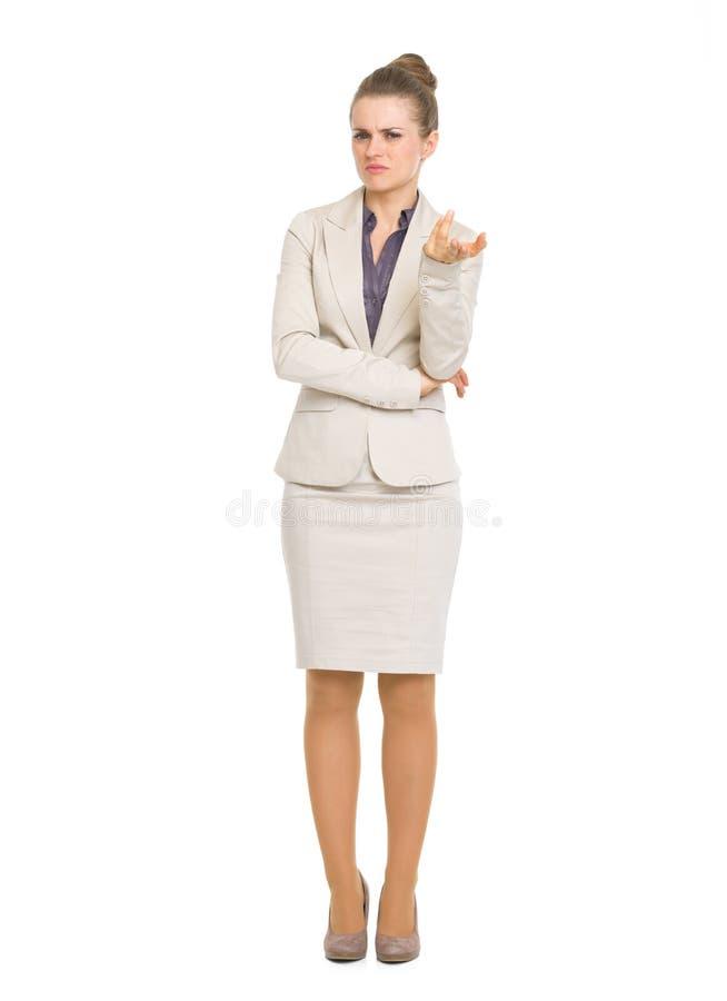 Retrato integral de la mujer de negocios en cuestión fotos de archivo libres de regalías
