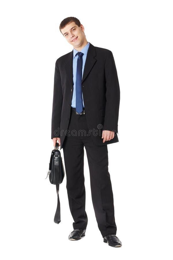 Retrato integral de un hombre de negocios joven foto de archivo libre de regalías