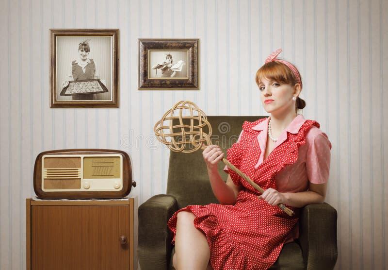 Retrato del ama de casa imagen de archivo libre de regalías
