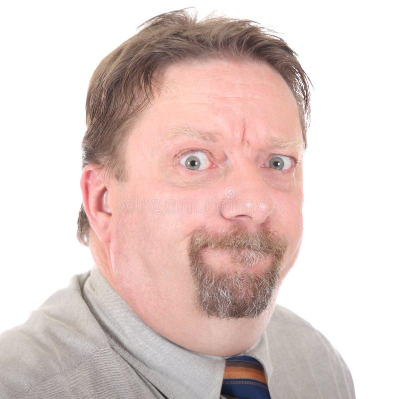 Retrato irritado do homem de negócios imagem de stock royalty free