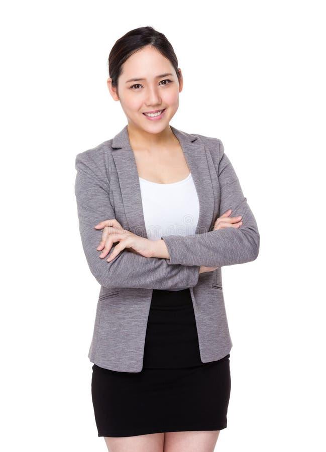 Retrato joven de la empresaria fotos de archivo
