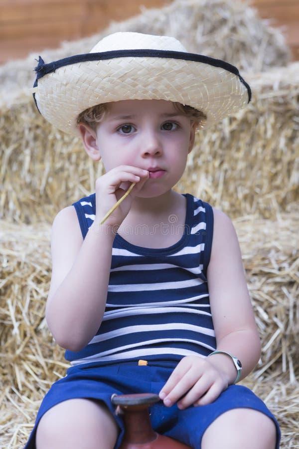 Retrato joven del granjero imagen de archivo libre de regalías