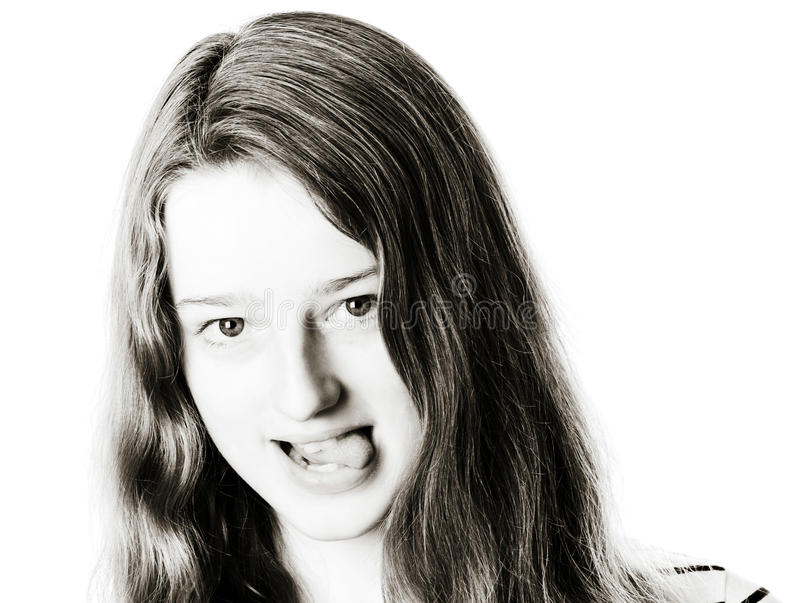 Retrato joven del primer del adolescente con diversas emociones fotografía de archivo libre de regalías