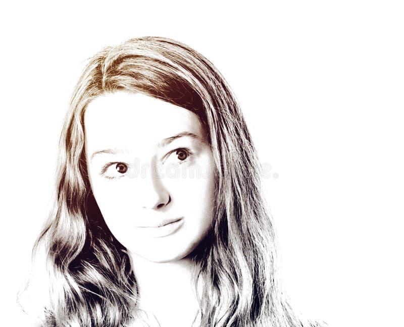 Retrato joven del primer del adolescente con diversas emociones foto de archivo