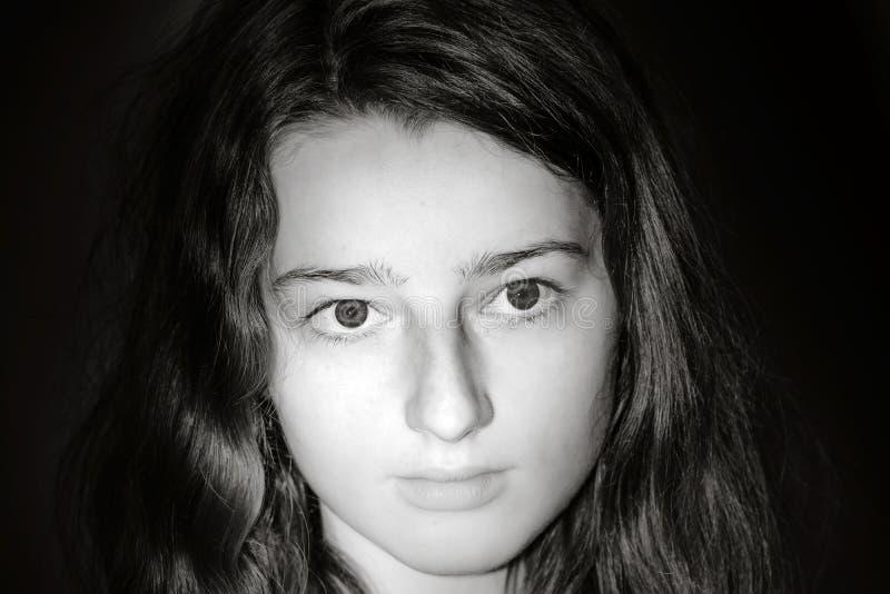 Retrato joven del primer del adolescente con diversas emociones foto de archivo libre de regalías