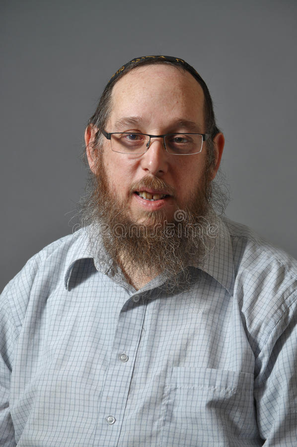 Retrato judío del hombre fotos de archivo libres de regalías