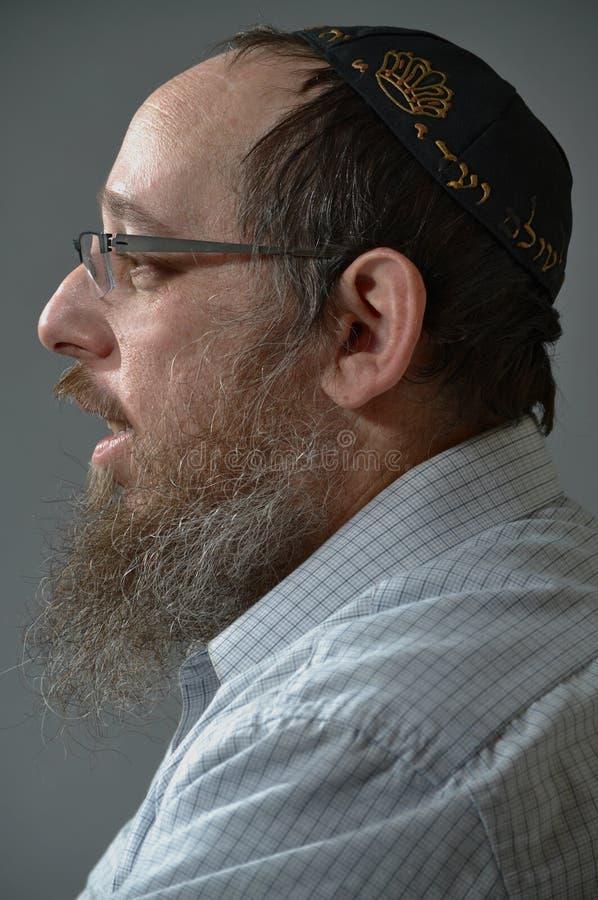 Retrato judaico do homem imagens de stock