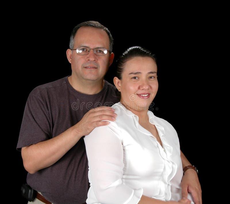 Retrato latino-americano dos pares foto de stock