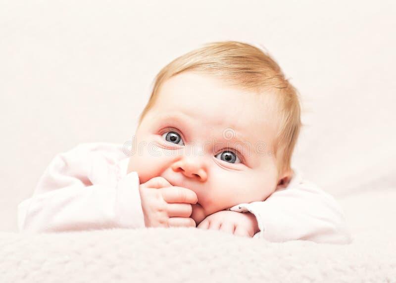 Retrato lindo del bebé fotografía de archivo libre de regalías