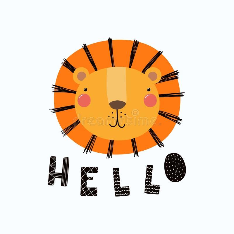 Retrato lindo del león libre illustration