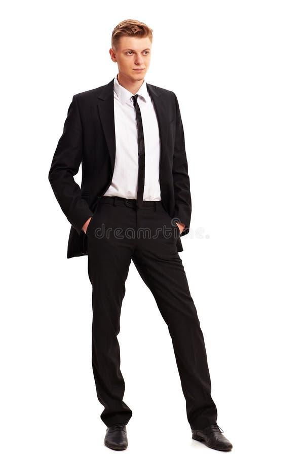 Retrato lleno del cuerpo del hombre de negocios joven foto de archivo libre de regalías
