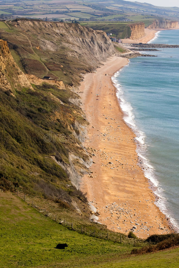 Retrato a lo largo de la costa jurásica foto de archivo