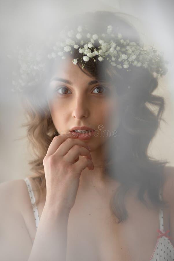 Retrato macio da menina da beleza imagens de stock
