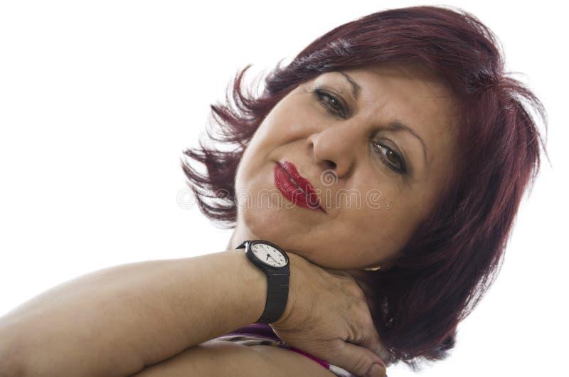 Retrato maduro da mulher foto de stock