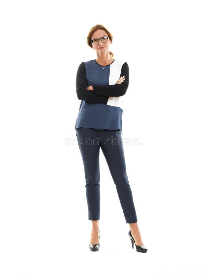 Retrato maduro da mulher de negócios imagem de stock