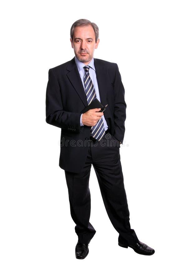 Retrato maduro do homem de negócios fotografia de stock