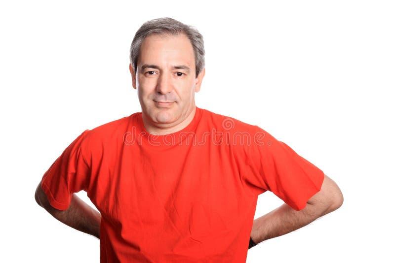 Retrato maduro ocasional do homem foto de stock