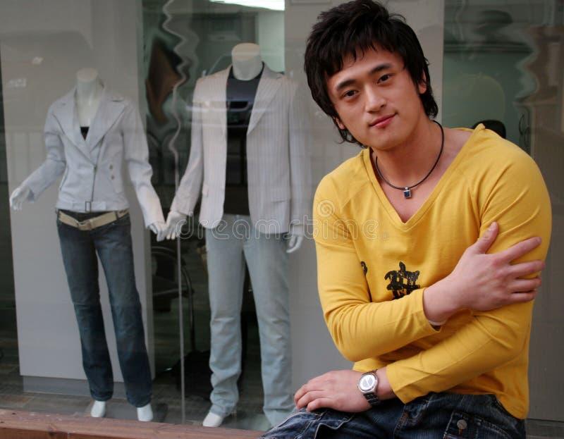 Retrato masculino asiático foto de archivo