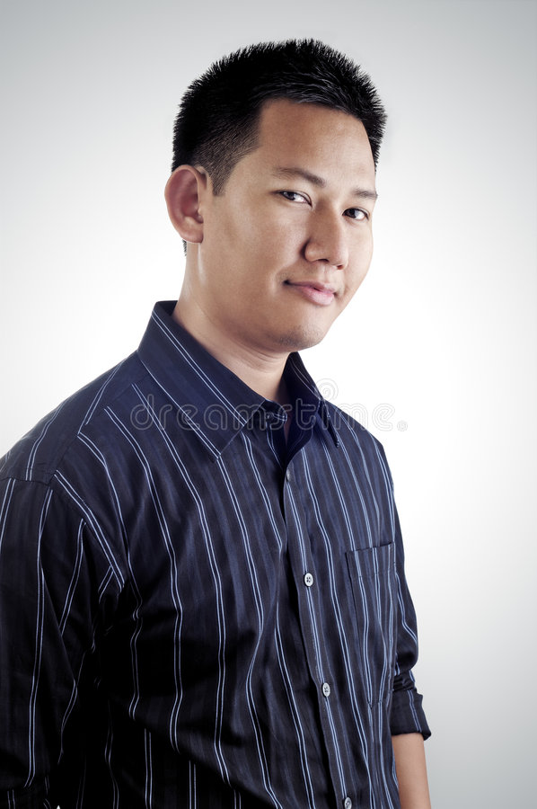Retrato masculino asiático foto de stock royalty free