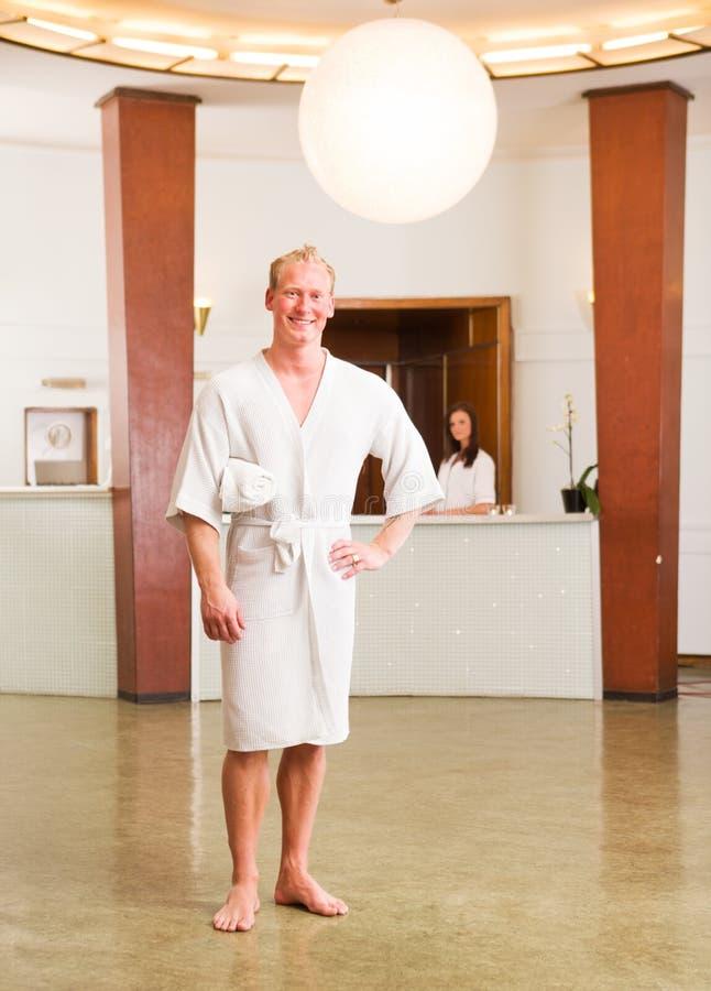 Retrato masculino da recepção dos termas fotos de stock royalty free