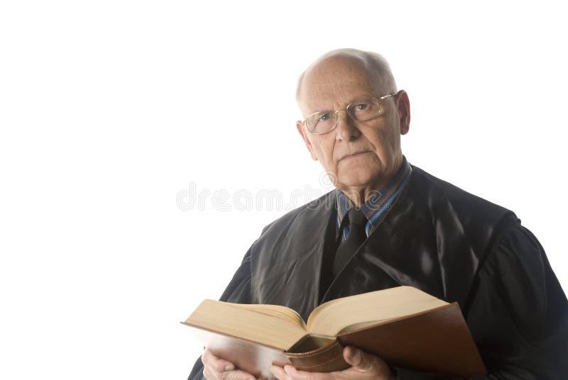 Retrato masculino del juez fotografía de archivo libre de regalías
