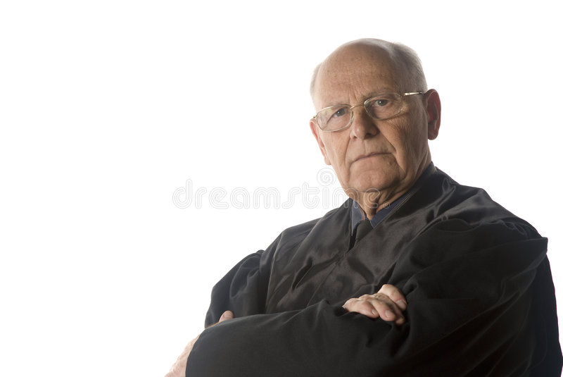 Retrato masculino do juiz foto de stock