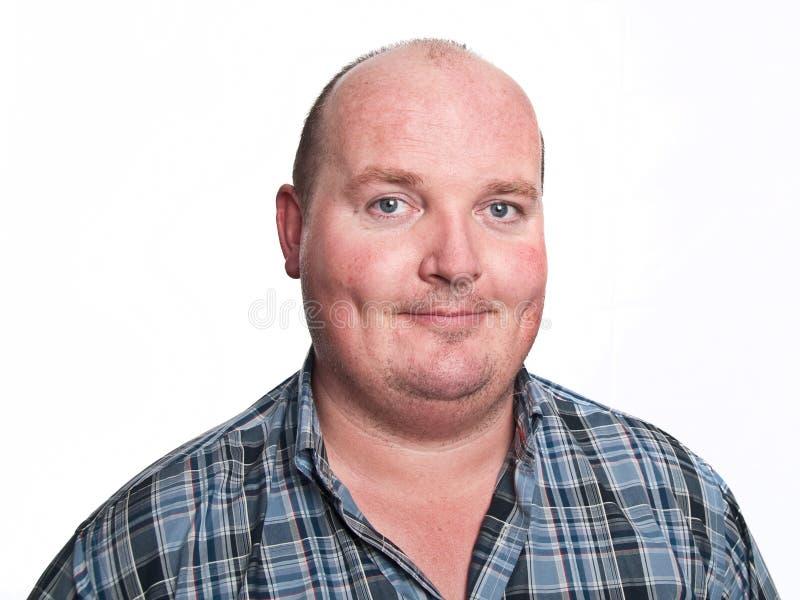 Retrato masculino ocasional da face no branco fotos de stock