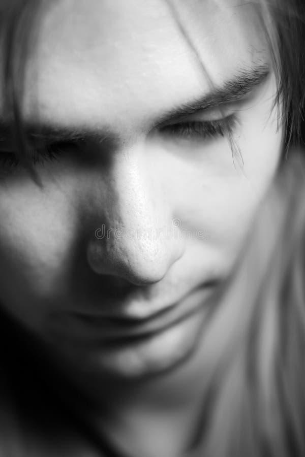 Retrato masculino pensativo fotos de archivo libres de regalías