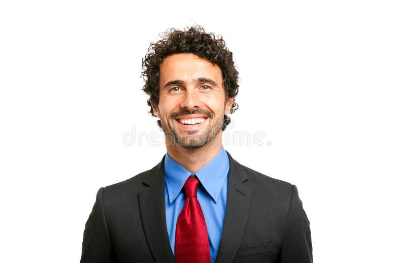 Retrato masculino sonriente hermoso del encargado fotografía de archivo libre de regalías