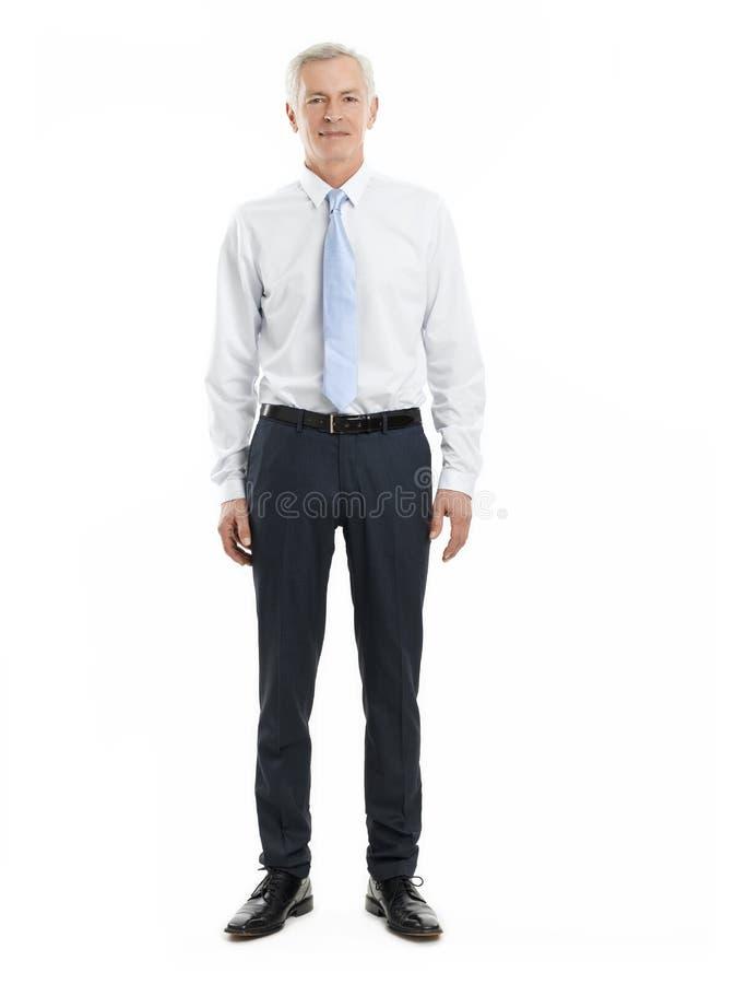Retrato mayor del hombre de las ventas imagenes de archivo